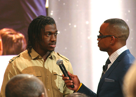 Robert Griffin III and Stewart Scott